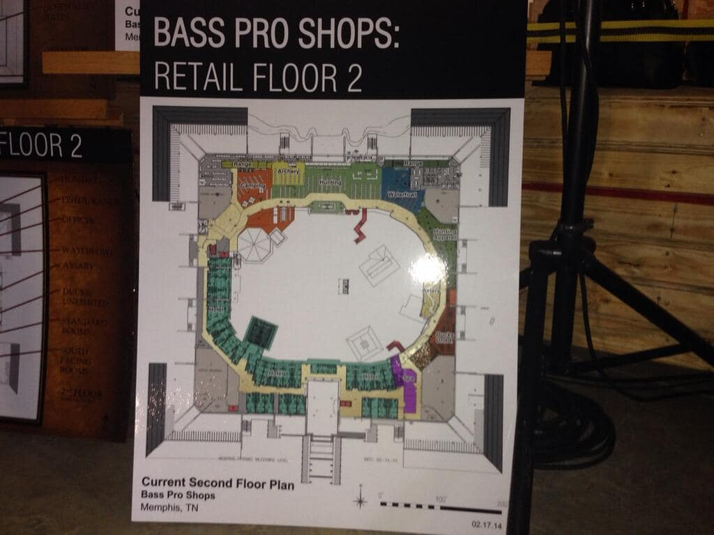 Inside look at bass pro shops pyramid fishing tackle Bowling alley floor plans