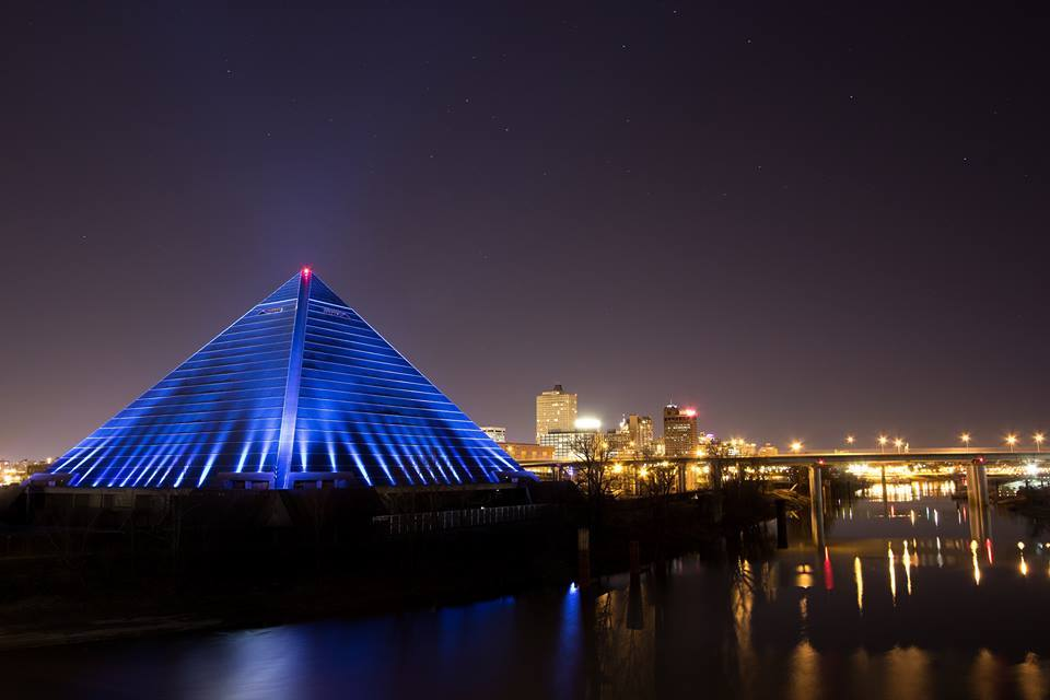 New design for the memphis pyramid bass pro shop for Fishing in memphis