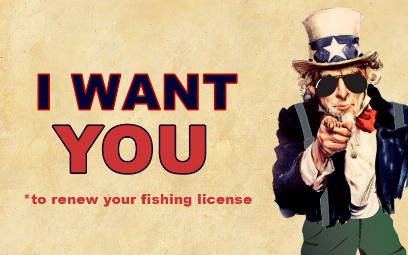 Unclesamfishinglicense for Renew fishing license