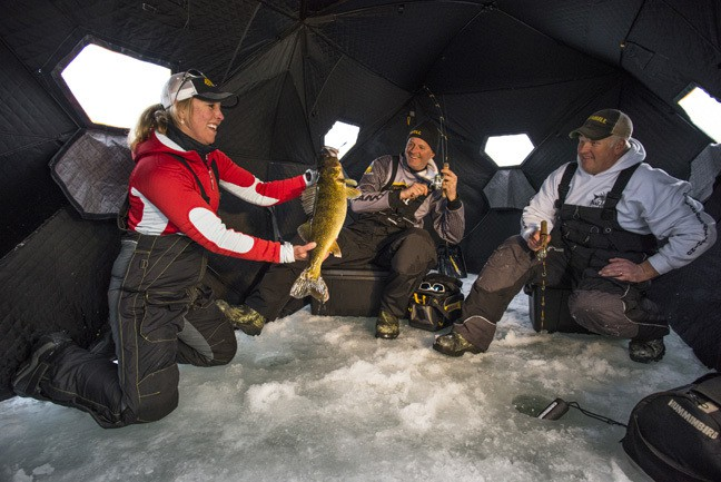 Meet frabill 39 s giant wartime ice fishing bunkers for Bunker up fishing