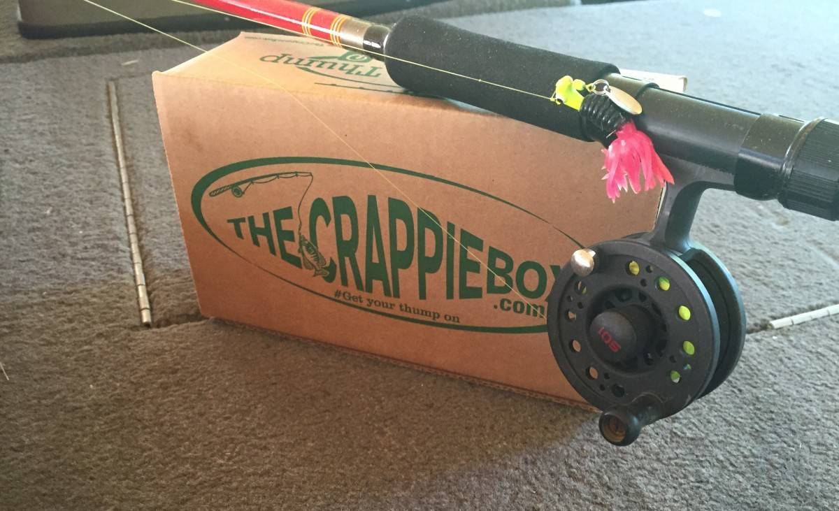 Company offers box of the month for crappie fishing crowd for Monthly fishing box
