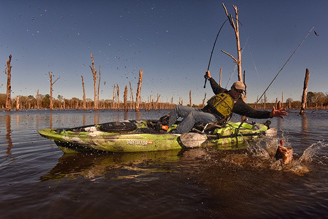 Old town launches bass fishing friday w keith combs for Bass pro fishing kayak